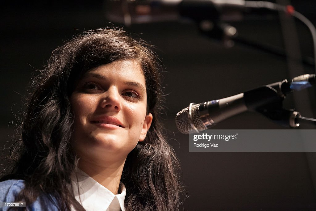 Singer/songwriter SoKo attends a Q&A at Sonos Studio on June 11, 2013 in Los Angeles, California.
