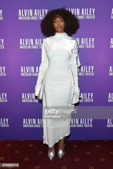 Singersongwriter Solange Knowles attends an evening of Ailey and Jazz opening night gala at New York City Center on November 30 2016 in New York City