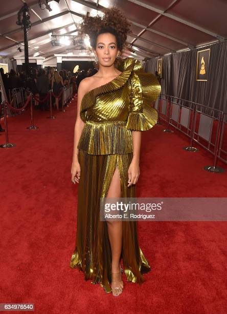 Singer/Songwriter Solange Knowles attends The 59th GRAMMY Awards at STAPLES Center on February 12 2017 in Los Angeles California