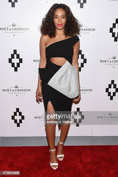 Singersongwriter Solange Knowles attends the Moet Nectar Imperial Rose x Marcelo Burlon Launch Event on June 3 2015 in New York City