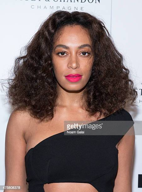 Singersongwriter Solange Knowles attends the Moet Nectar Imperial Rose x Marcelo Burlon Launch Event at Cipriani Downtown on June 3 2015 in New York...