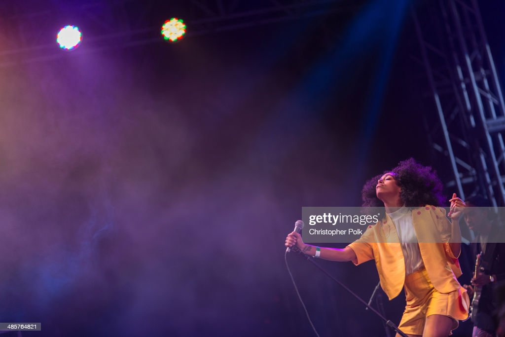 Singer/songwriter <a gi-track='captionPersonalityLinkClicked' href=/galleries/search?phrase=Solange+Knowles&family=editorial&specificpeople=221489 ng-click='$event.stopPropagation()'>Solange Knowles</a> performs onstage during day 2 of the 2014 Coachella Valley Music & Arts Festival at the Empire Polo Club on April 19, 2014 in Indio, California.