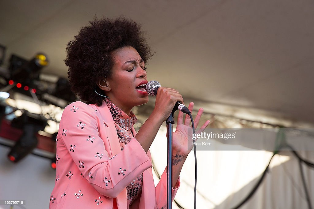 Singer-songwriter Solange performs onstage during the annual SPIN at Stubbs concert on March 15, 2013 in Austin, Texas.