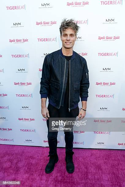 Singer/Songwriter Spencer Sutherland arrives at the Tiger Beat's PreParty Around FOX's Teen Choice Awards at HYDE Sunset Kitchen Cocktails on July 28...