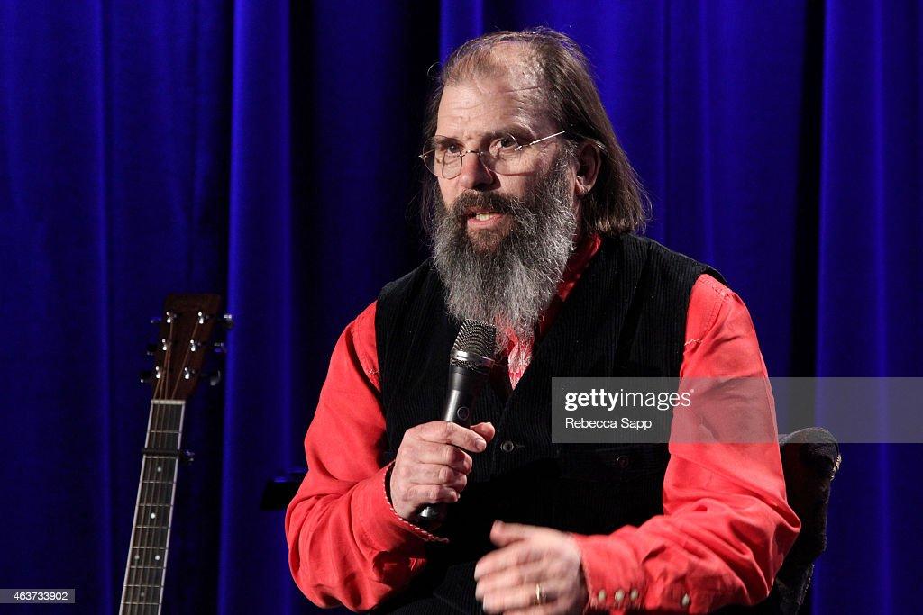 Singer/songwriter Steve Earle speaks onstage at The Drop: Steve Earle at The GRAMMY Museum on February 17, 2015 in Los Angeles, California.