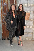 Singersongwriter Steven Tyler and actress Liv Tyler attend the Givenchy fashion show during Spring 2016 New York Fashion Week at Pier 26 at Hudson...