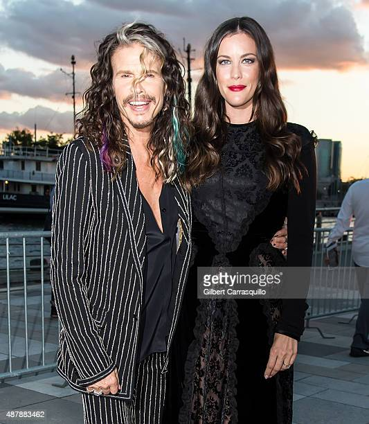 Singersongwriter Steven Tyler and Liv Tyler are seen arriving at the Givenchy fashion show during Spring 2016 New York Fashion Week on September 11...