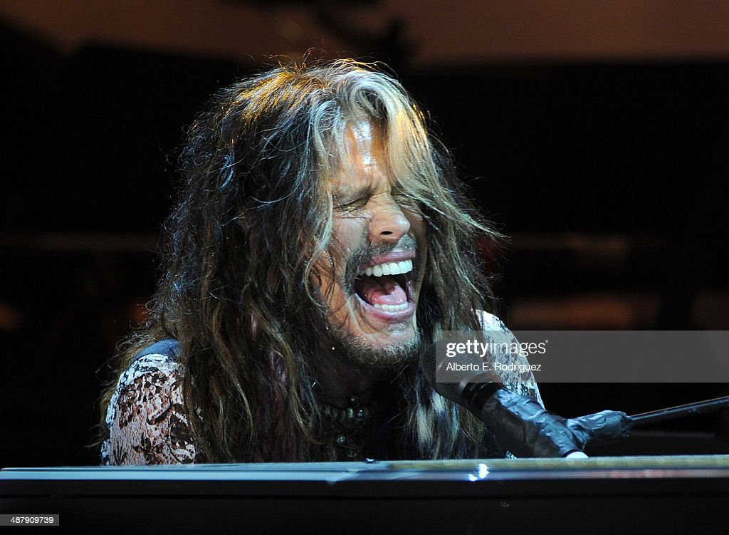 Singer/songwriter Steven Tyler attends the 21st annual Race to Erase MS at the Hyatt Regency Century Plaza on May 2, 2014 in Century City, California.