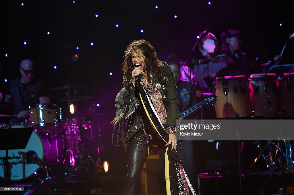 Singer-songwriter Steven Tyler performs on stage during the Imagine: John Lennon 75th Birthday Concert at The Theater at Madison Square Garden on December 5, 2015 in New York City.