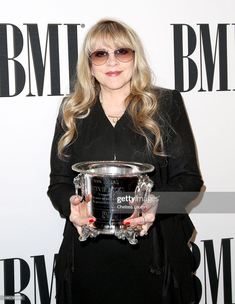 Singer-songwriter <a gi-track='captionPersonalityLinkClicked' href=/galleries/search?phrase=Stevie+Nicks&family=editorial&specificpeople=212751 ng-click='$event.stopPropagation()'>Stevie Nicks</a>, recipient of the BMI Icon Award, attends the 2014 BMI Pop Awards at the Beverly Wilshire Four Seasons Hotel on May 13, 2014 in Beverly Hills, California.