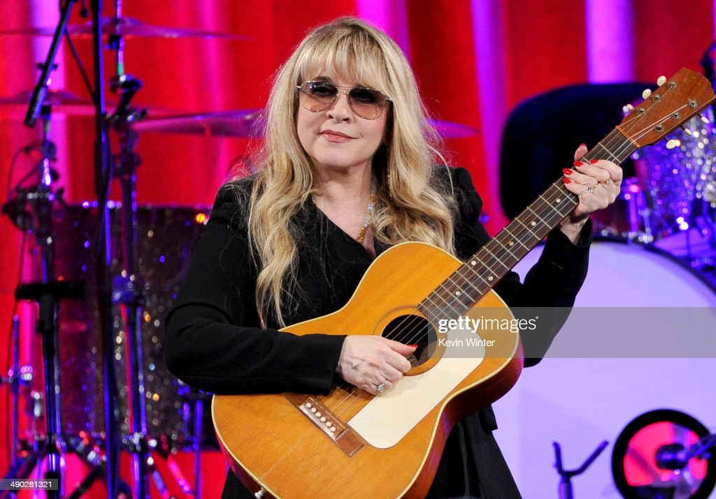 Singer-songwriter <a gi-track='captionPersonalityLinkClicked' href=/galleries/search?phrase=Stevie+Nicks&family=editorial&specificpeople=212751 ng-click='$event.stopPropagation()'>Stevie Nicks</a>, recipient of the BMI Icon Award speaks onstage at the 62nd annual BMI Pop Awards at the Regent Beverly Wilshire Hotel on May 13, 2014 in Beverly Hills, California.