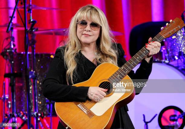 Singersongwriter Stevie Nicks recipient of the BMI Icon Award speaks onstage at the 62nd annual BMI Pop Awards at the Regent Beverly Wilshire Hotel...
