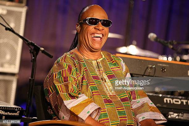 Singer/songwriter Stevie Wonder announces the 'Songs in the Key of Life' tour at The GRAMMY Museum on September 10 2014 in Los Angeles California