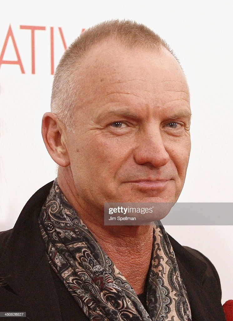 Singer/songwriter Sting attends the 'Black Nativity' premiere at The Apollo Theater on November 18, 2013 in New York City.