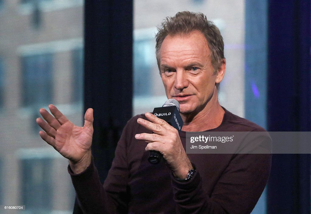 Singer/songwriter Sting attends The Build Series Presents to discuss his new album '57th & 9th' at AOL HQ on October 21, 2016 in New York City.