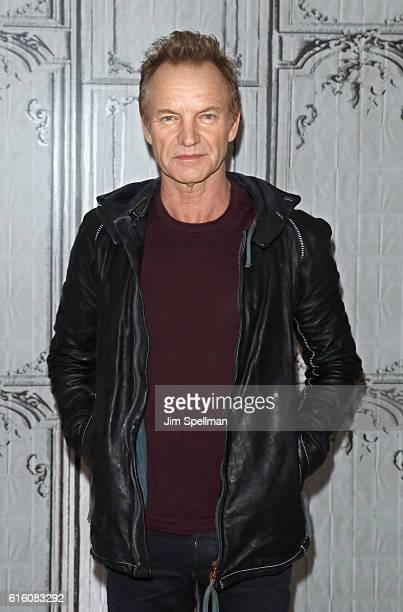 Singer/songwriter Sting attends The Build Series Presents to discuss his new album '57th 9th' at AOL HQ on October 21 2016 in New York City