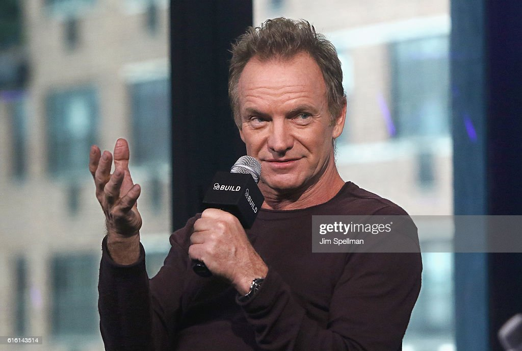 Singer/songwriter Sting attends The Build Series to discuss his new album '57th & 9th' at AOL HQ on October 21, 2016 in New York City.