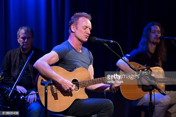 Singer/songwriter Sting performs onstage at An Evening With Sting The GRAMMY Museum on October 26 2016 in Los Angeles California
