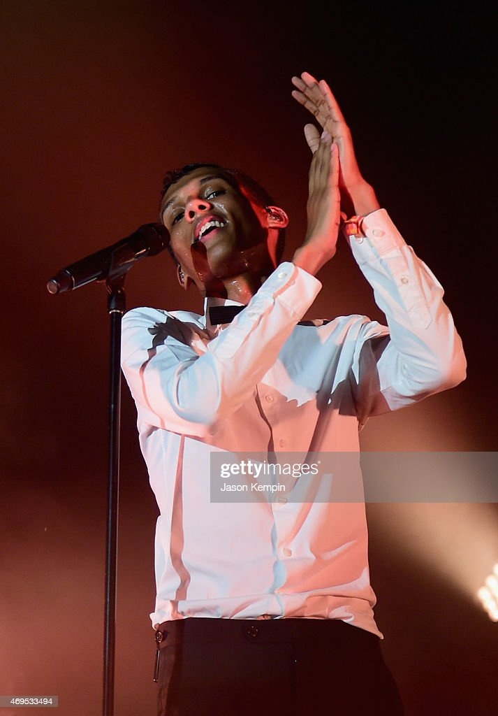 Singer-songwriter <a gi-track='captionPersonalityLinkClicked' href=/galleries/search?phrase=Stromae&family=editorial&specificpeople=6826786 ng-click='$event.stopPropagation()'>Stromae</a> performs onstage during day 3 of the 2015 Coachella Valley Music & Arts Festival (Weekend 1) at the Empire Polo Club on April 12, 2015 in Indio, California.
