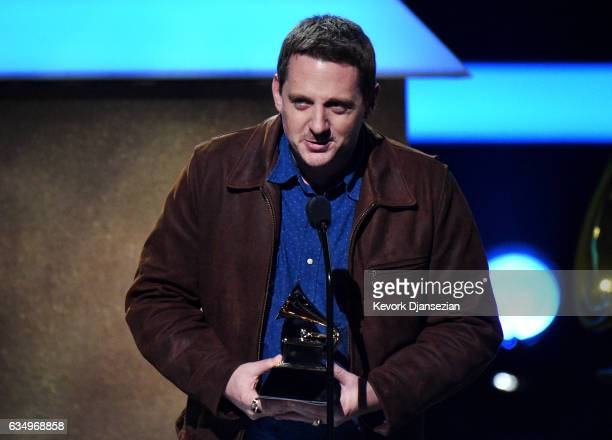 Singersongwriter Sturgill Simpson accepts the award for Best Country Album onstage at the Premiere Ceremony during The 59th GRAMMY Awards at...