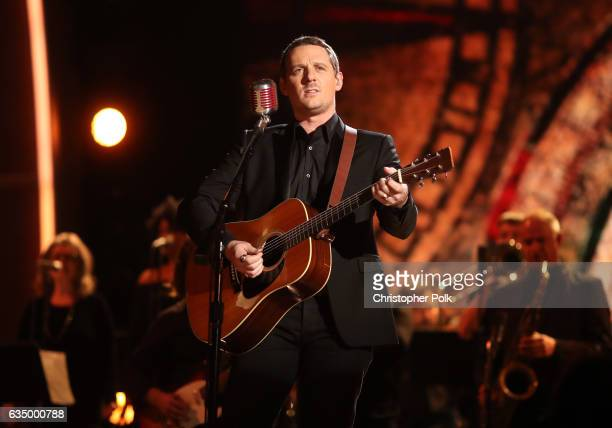 Singer/Songwriter Sturgill Simpson during The 59th GRAMMY Awards at STAPLES Center on February 12 2017 in Los Angeles California