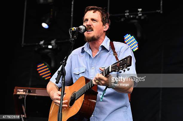 Singer/songwriter Sturgill Simpson performs onstage during day 3 of the Firefly Music Festival on June 20 2015 in Dover Delaware