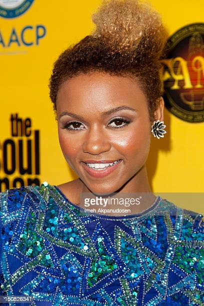 Singer/songwriter Syesha Mercado attends the TV Land screening of 2 episodes of 'The Soul Man' at First AME Church on August 26 2012 in Los Angeles...