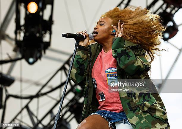 Singersongwriter SZA performs onstage during day 4 of Pemberton Music Festival on July 17 2016 in Pemberton Canada