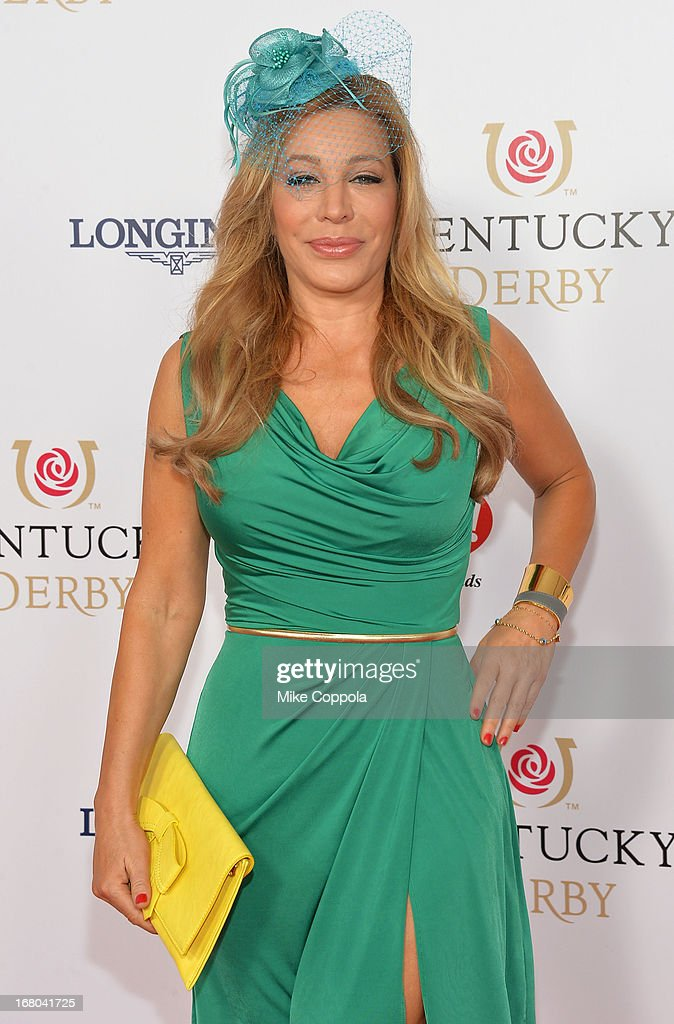 Singer/songwriter Taylor Dayne celebrates the 139th Kentucky Derby with Moet & Chandon at Churchill Downs on May 4, 2013 in Louisville, Kentucky.
