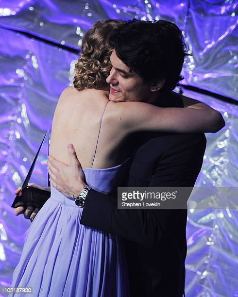 Singer/songwriter Taylor Swift and singer/songwriter John Mayer attend the 41st annual Songwriters Hall of Fame at The New York Marriott Marquis on...