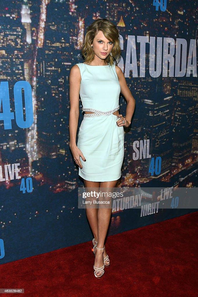Singer-songwriter Taylor Swift attends SNL 40th Anniversary Celebration at Rockefeller Plaza on February 15, 2015 in New York City.