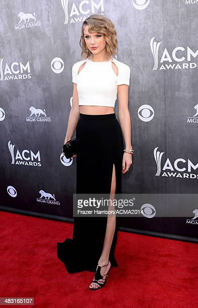 Singersongwriter Taylor Swift attends the 49th Annual Academy of Country Music Awards at the MGM Grand Garden Arena on April 6 2014 in Las Vegas...