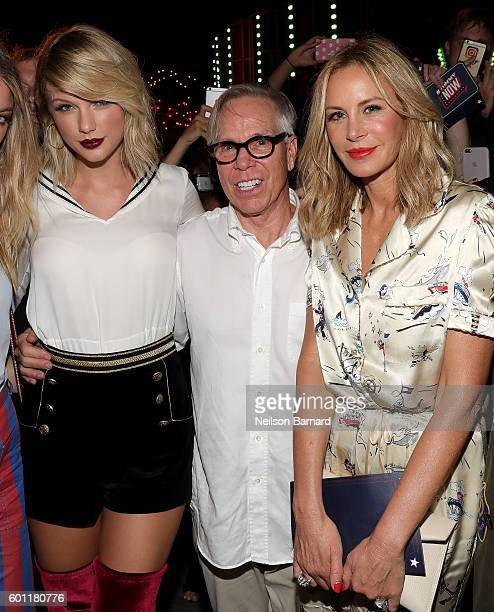 Singersongwriter Taylor Swift fashion designerTommy Hilfiger Dee Hilfiger attend the #TOMMYNOW Women's Fashion Show during New York Fashion Week at...