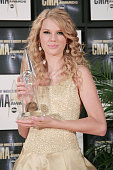 Singer/songwriter Taylor Swift in the press room of the 41st Annual CMA Awards at the Sommet Center on November 7 2007 in Nashville TN