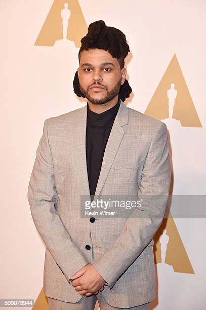Singersongwriter The Weeknd attends the 88th Annual Academy Awards nominee luncheon on February 8 2016 in Beverly Hills California