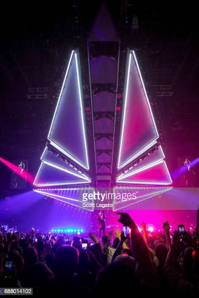 Singer/Songwriter The Weeknd performs in support of his Starboy Legend of the Fall 2017 World Tour at The Palace of Auburn Hills on May 24 2017 in...