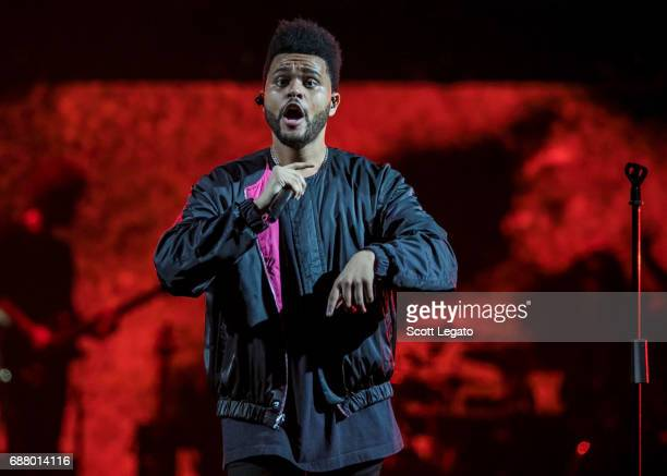Singer/Songwriter The Weeknd performs in support of the Starboy Legend of the Fall 2017 World Tour at The Palace of Auburn Hills on May 24 2017 in...