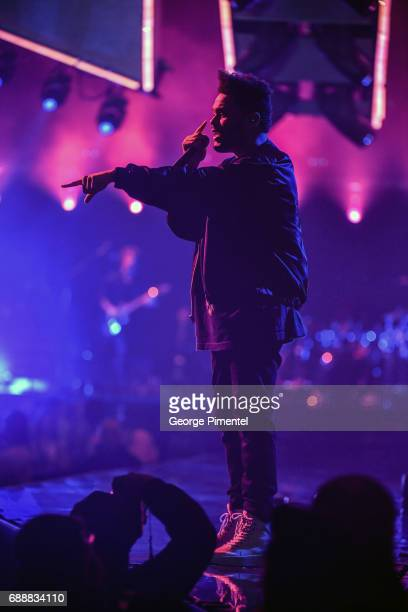 Singer/Songwriter The Weeknd performs in support of the Starboy Legend of the Fall 2017 World Tour at at Air Canada Centre on May 26 2017 in Toronto...
