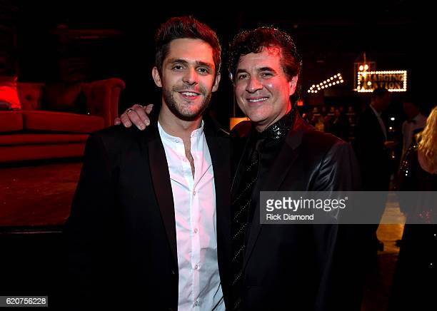 Singersongwriter Thomas Rhett and CEO of Big Machine Records Scott Borchetta attend the Big Machine Label Group's celebration of the 50th Annual CMA...