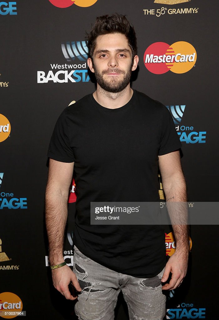 Singer-songwriter <a gi-track='captionPersonalityLinkClicked' href=/galleries/search?phrase=Thomas+Rhett&family=editorial&specificpeople=9092574 ng-click='$event.stopPropagation()'>Thomas Rhett</a> attends the Westwood One Radio Remotes during The 58th GRAMMY Awards at Staples Center on February 13, 2016 in Los Angeles, California.