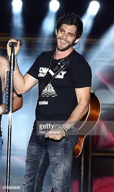 Singer/Songwriter Thomas Rhett performs at Kicker Country Stampede Manhattan Kansas Day 1 on June 25 2015 in Manhattan Kansas