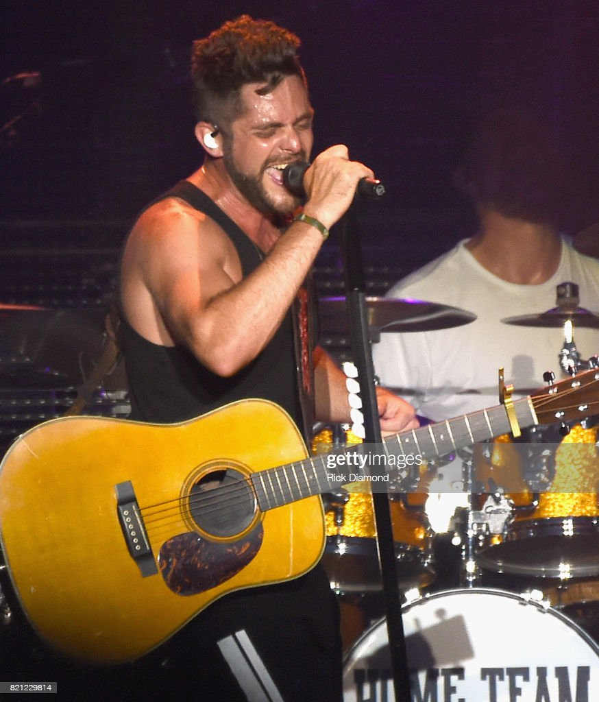 Singer/Songwriter Thomas Rhett performs during Country Thunder In Twin Lakes, Wisconsin - Day 3 on July 22, 2017 in Twin Lakes, Wisconsin.