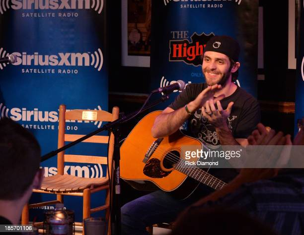 Singer/Songwriter Thomas Rhett performs during the taping of SiriusXM The Highway VIP Performance featuring Thomas Rhett and special guest his dad...