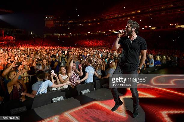 Singersongwriter Thomas Rhett performs onstage during 2016 CMA Festival Day 4 at Nissan Stadium on June 12 2016 in Nashville Tennessee