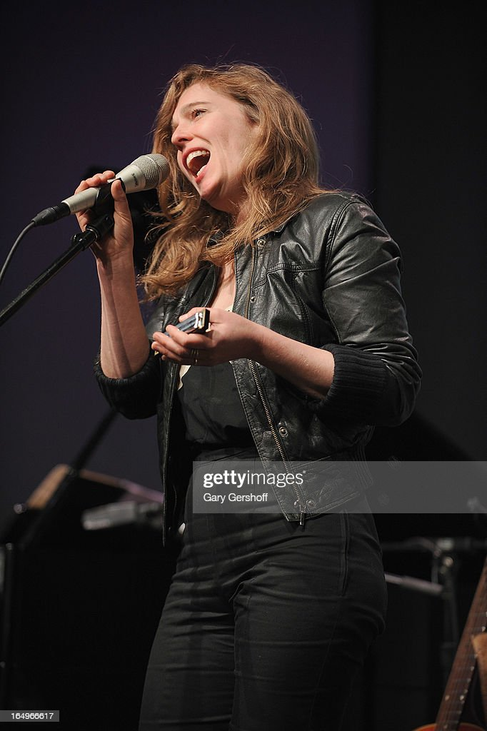 Singer-songwriter <a gi-track='captionPersonalityLinkClicked' href=/galleries/search?phrase=Tift+Merritt&family=editorial&specificpeople=4950355 ng-click='$event.stopPropagation()'>Tift Merritt</a> performs live at Meet the Musicians at the Apple Store Soho on March 29, 2013 in New York City.