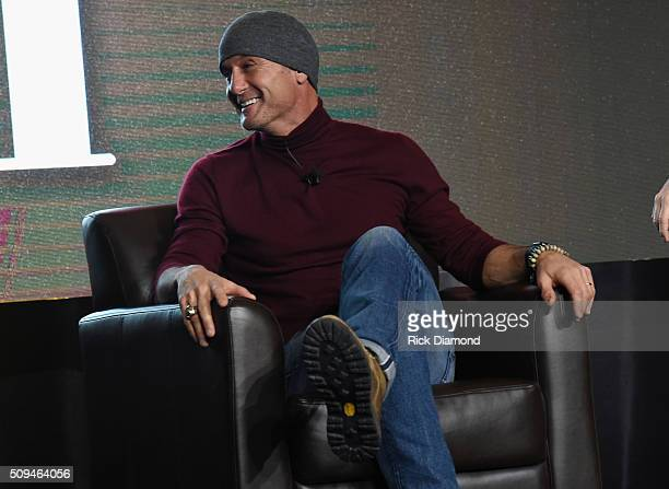 Singer/Songwriter Tim McGraw attends CRS 2016 Day 3 at The Omni Hotel on February 10 2016 in Nashville Tennessee