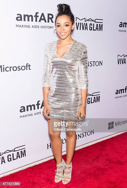 Singersongwriter Tinashe attends the 2015 amfAR Inspiration Gala New York at Spring Studios on June 16 2015 in New York City