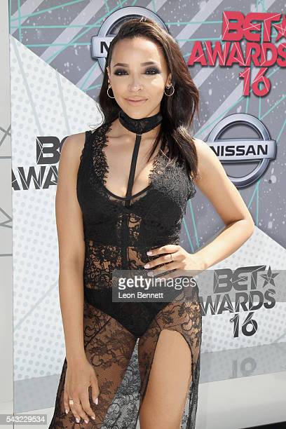 Singersongwriter Tinashe attends the Make A Wish VIP Experience at the 2016 BET Awards on June 26 2016 in Los Angeles California