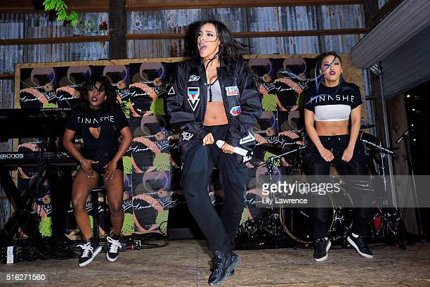 Singer/songwriter Tinashe performs onstage during the MAC Cosmetics SXSW Party Performance with Tinashe at Palazzo Lavaca on March 17 2016 in Austin...