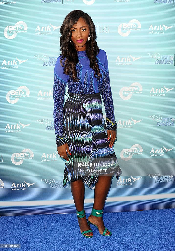 Singersongwriter Tiwa Savage attends the International talent reception VIP party during the BET AWARDS '14 on June 27 2014 in Los Angeles California